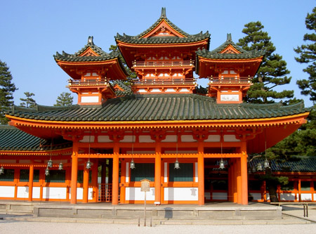 Temple Heian Shrine, Kyoto